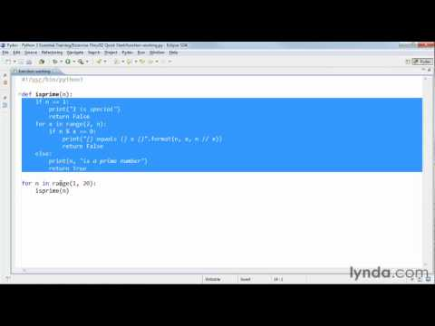 Python tutorial: How to reuse code with functions   lynda.com