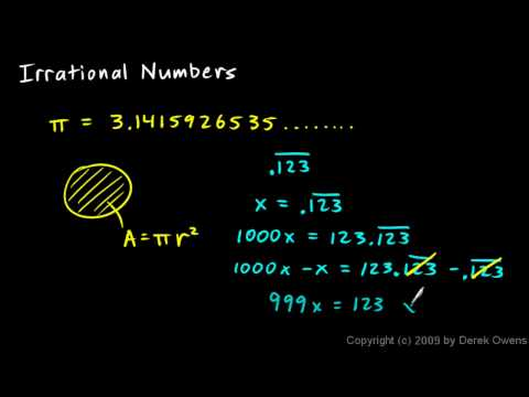 Algebra 1 11.4a - Irrational Numbers and Square Roots