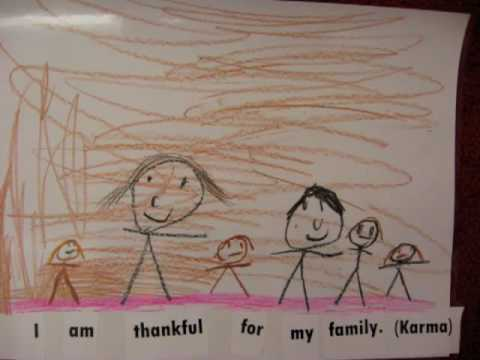 I am thankful for _____.         Thanksgiving predictable book from November 2009