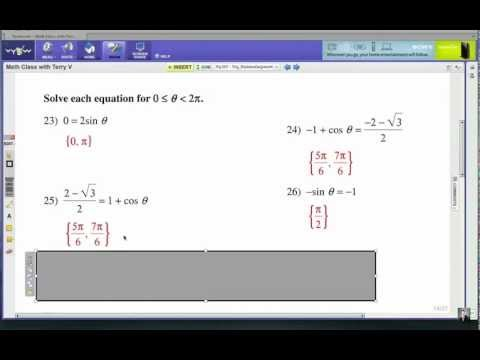 How to Use the Unit Circle: Trig Equations 2