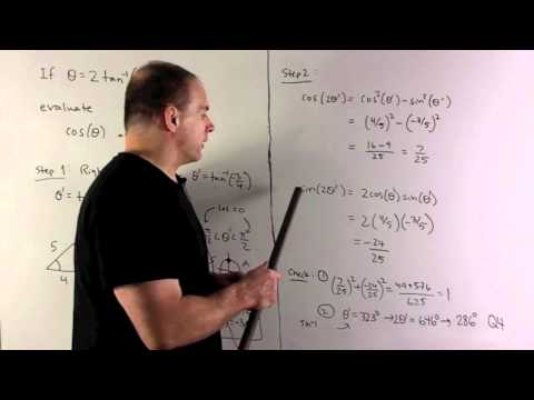 Example of Double Angle Formulas