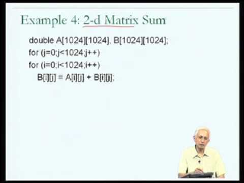 Mod-06 Lec-30 Cache aware programming (contd)