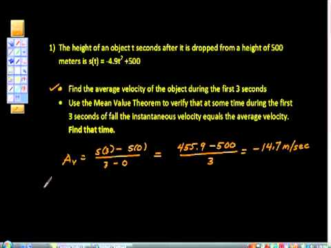 AP Calculus ab Mean Value Theorem Average Rate of Change #51