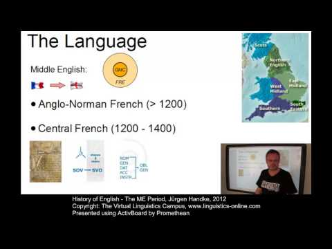 History of English - The ME Period