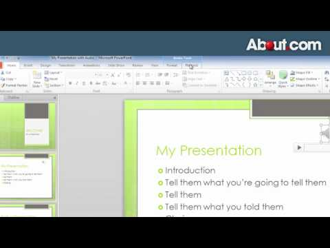 How to Add Music and Sounds to PowerPoint 2010 Slide Shows
