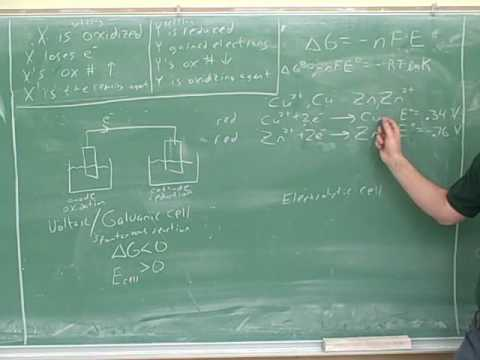 Electrochemistry and electrochemical cells (3)