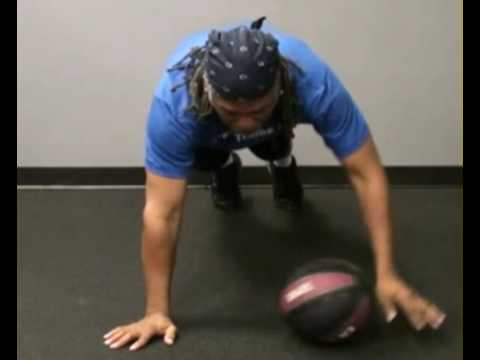 Medicine Ball Touches Front : BeYourTrainer.com