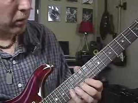 Guitar Lesson on fretboard tapping tap along scales
