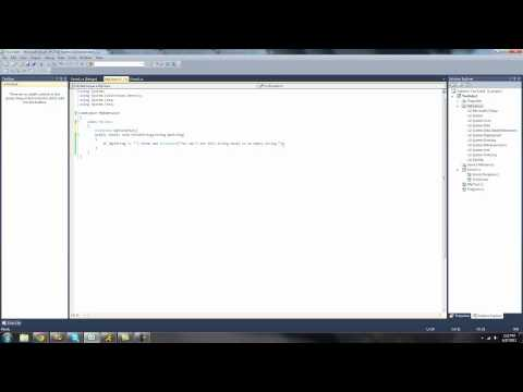 C# Beginners Tutorial - 24 - Throwing Exceptions
