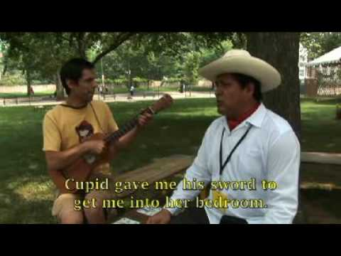 Tereso Vega from Son De Madera improvises lyrics at the 2009 Smithsonian Folklife Festival.