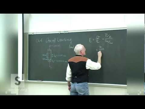 Saylor ME102: Mechanics of Materials- Stress & Strain