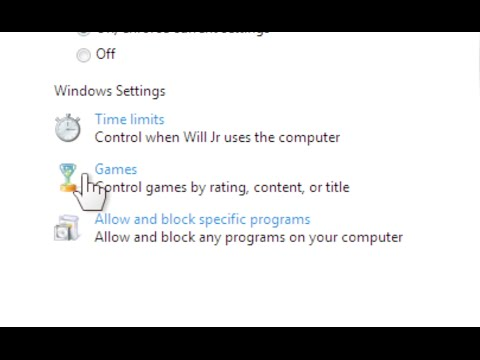 Windows 7: Windows 7 Parental Controls