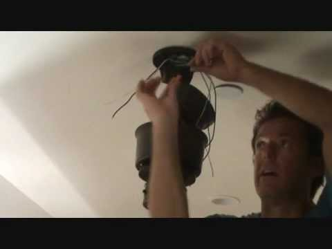How to install a ceiling fan Part 2