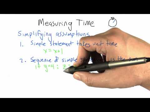 Measuring Time - Algorithms - Crunching Social Networks - Udacity