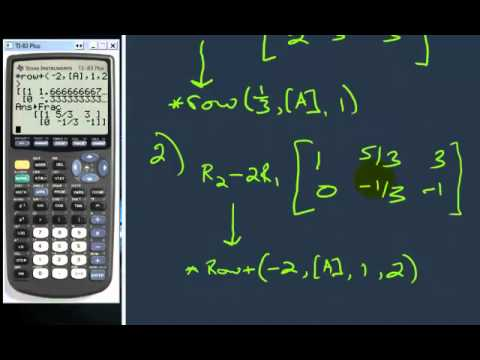 Row Reduce Operations with a graphing calculator (Part 2)