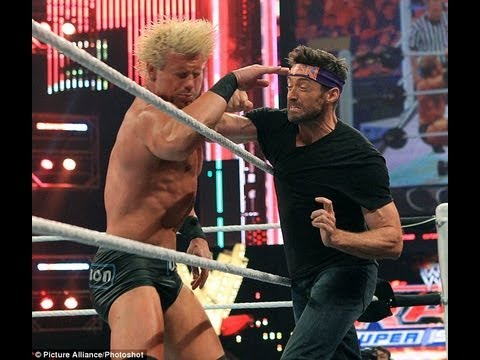 Hugh Jackman Breaks Wrestler's Jaw?