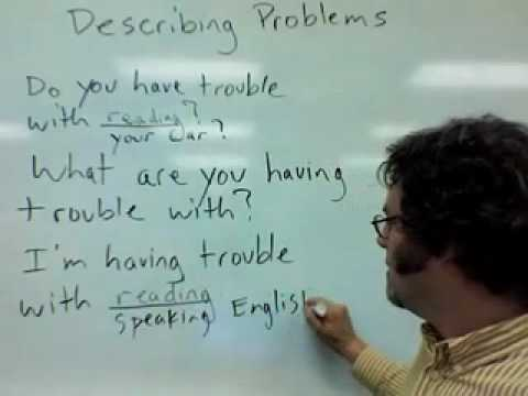 describing problems