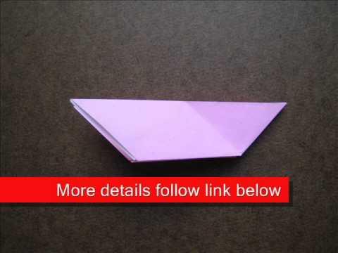 How to Fold Origami Dove - OrigamiInstruction.com