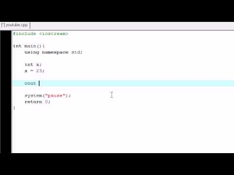 C++ Programming Tutorial - 3 - Introduction to Variables