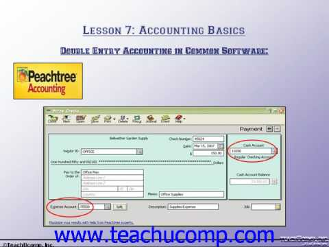 Accounting Tutorial Double-Entry Accounting in Common Software Training Lesson 7.3