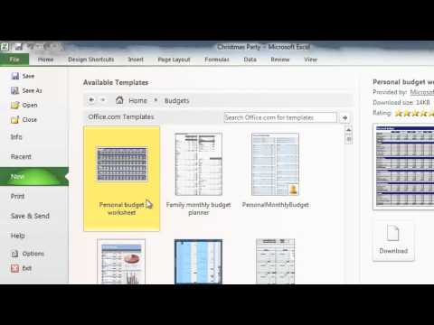 Excel 2010: Creating Workbooks