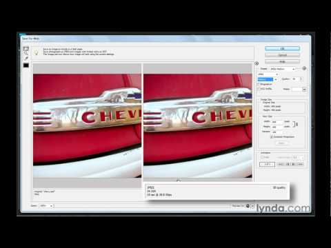 Photoshop Elements: Saving images for the web | lynda.com tutorial
