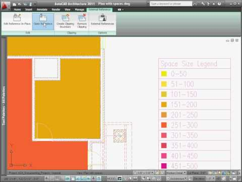 Creating a Color Filled Plan — AutoCAD Architecture 2011