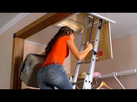 Werner Compact Aluminum Attic Ladder