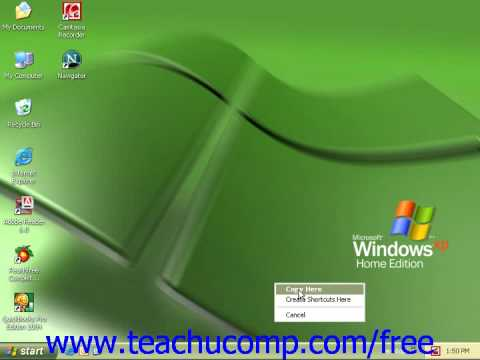 Windows XP Tutorial The Quick Launch Toolbar Microsoft Training Lesson 2.4