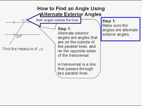 How to Find an Angle Using Alternate Exterior Angles