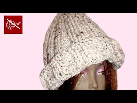 Crochet Geek - Crochet Cuff Cable Cap - Cedar
