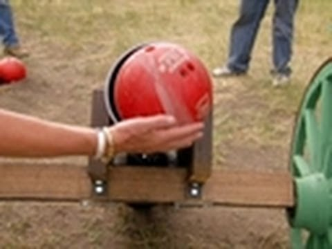 Bowling Ball Cannon Shoot | American Guns