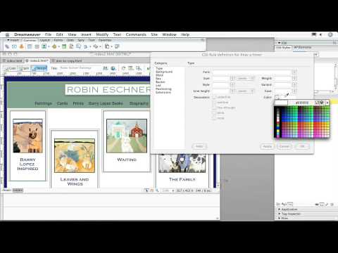 Adobe Dreamweaver CS3: CREATING CSS LAYOUTS: Creating a Rollover Effect in CSS