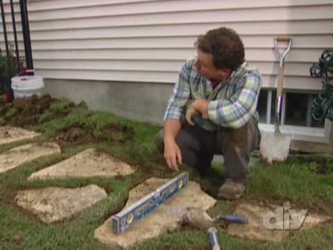 Stone Walkway Overview-DIY