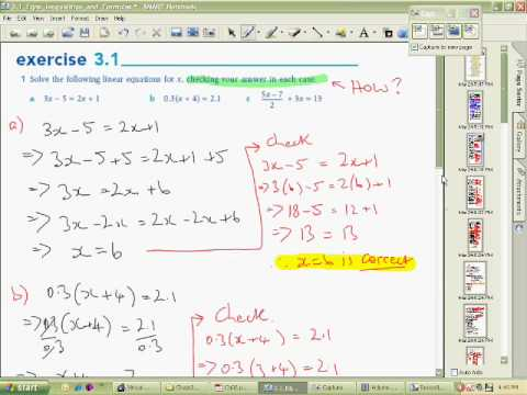 Equations inequalities and formulas Part A