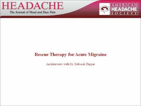 Rescue Therapy for Acute Migraine