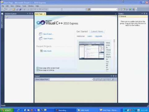 Visual C++ 2010 Express Tutorial 2 - Events