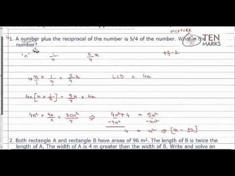 Rational Equations-Other Applications