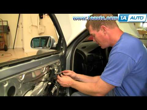 How To Install Replace Side Rear View MIrror Volkswagen Passat 01-04 1AAuto.com