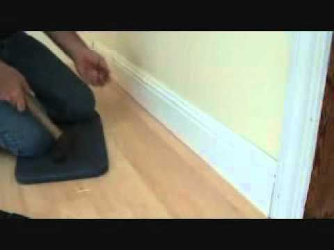 Installing baseboard.....by hand