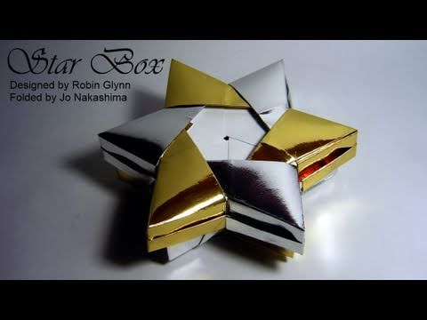 Origami Star Box (Robin Glynn) - Part 2/2 (Lid)