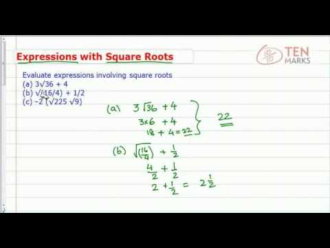 Expressions with Square Roots