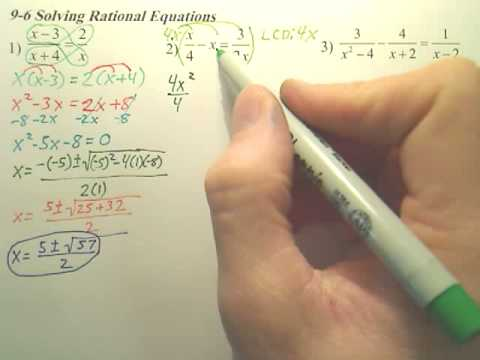 Algebra 2 - 9.6b Rational Equations - Algebra 2