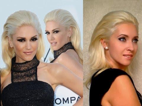 Gwen Stefani pulled / swept back hair tutorial Sasha Fierce party hairstyle Angelina Jolie volume