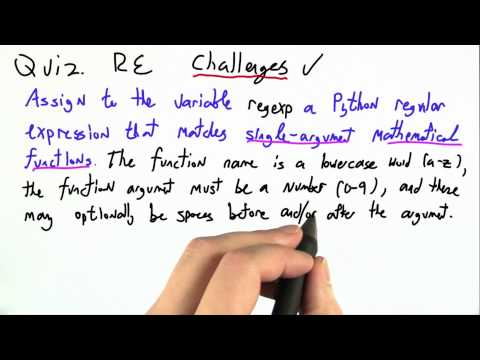 Re Challenges - CS262 Unit 1 - Udacity