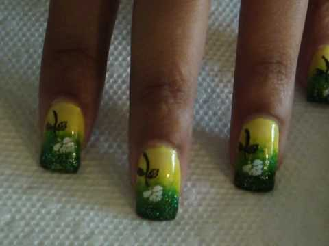 Shrek Inspired Gradient Nails - Tutorial