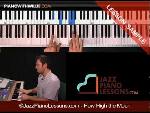Learn How High The Moon - Jazz Piano Fills