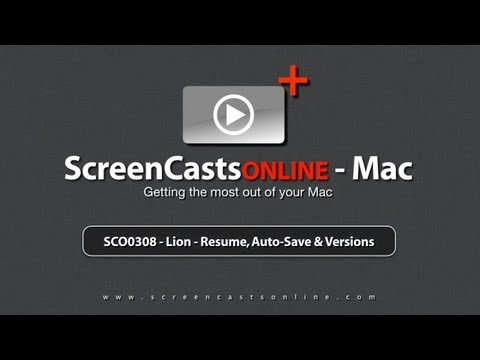 SCO0308 - Lion - Resume, Auto-Save and Versions - Trailer