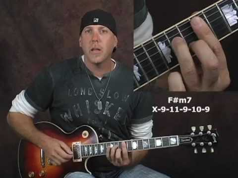 Rock blues lead guitar target note soloing lesson notes scales arpeggios over chords pt2