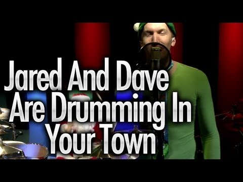 Jared & Dave are Drumming In Your Town - Christmas Drum Cover